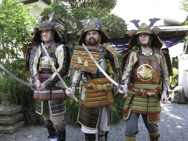 Dressing up as samurai, Hakone
