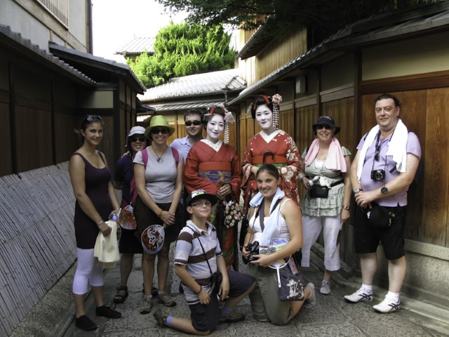 Meeting locals in Kyoto