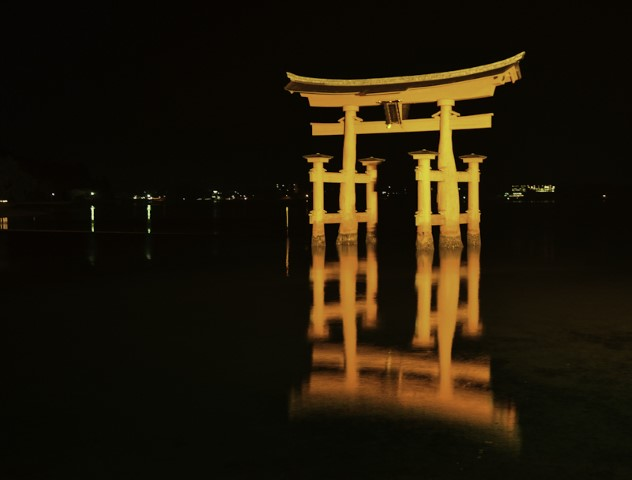 Miyajima Floating Torii at night