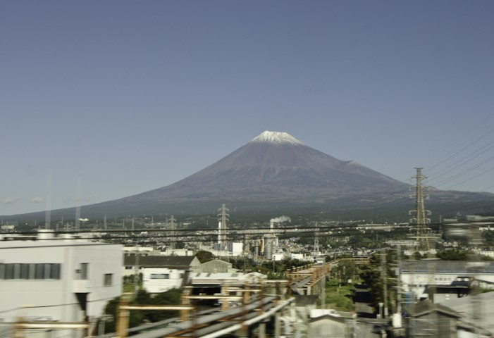 Mount Fuji from the bullet train to Kyoto