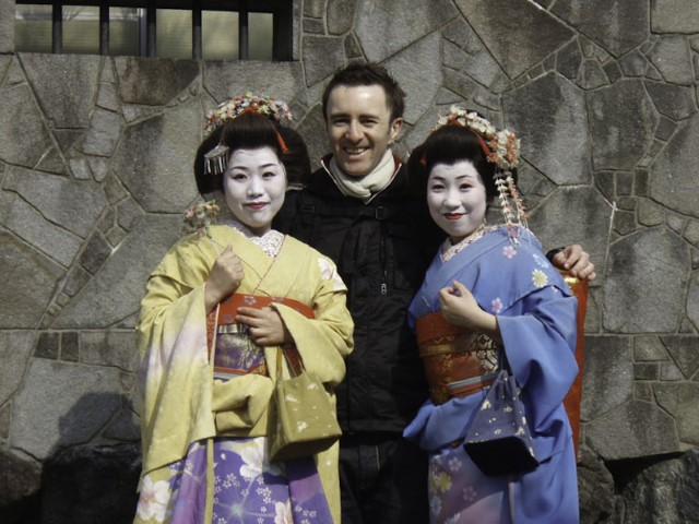 Meeting the locals, Kyoto