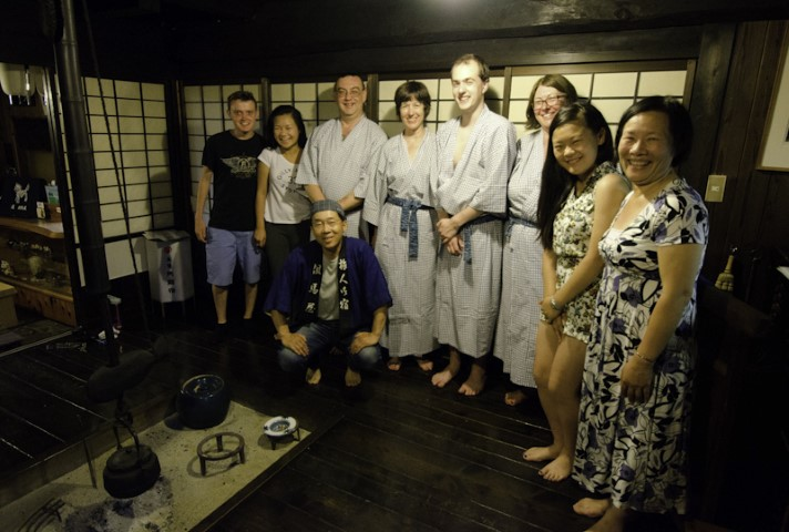 Staying at a traditional japanese inn