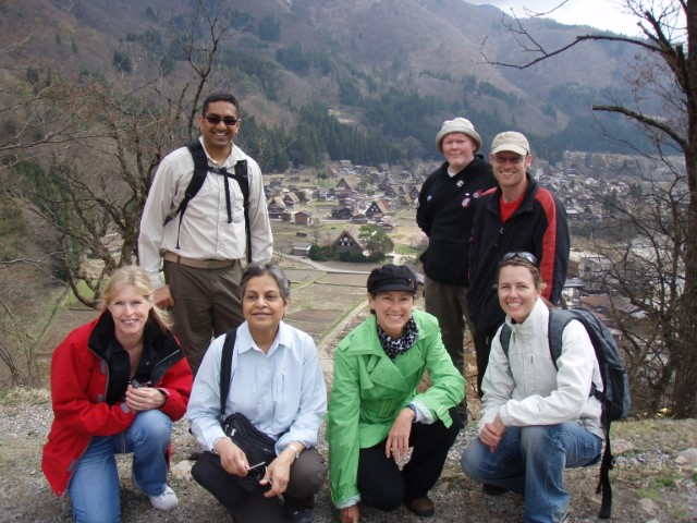 Group shot in Shirakawa-go