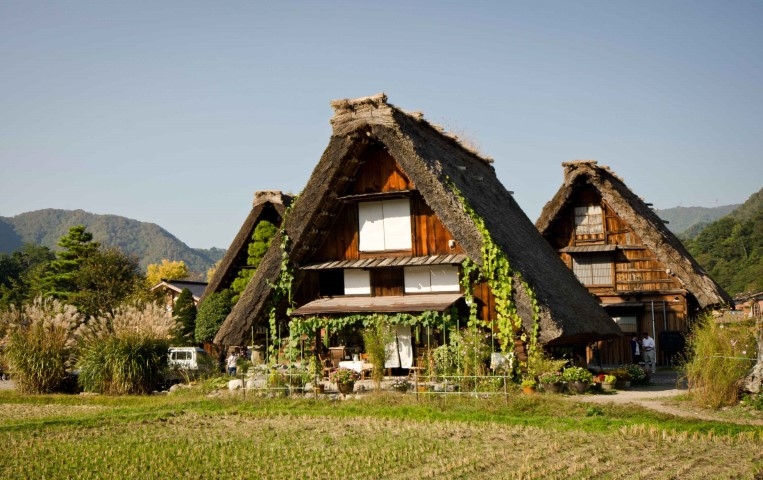 Old farm houses in Japan